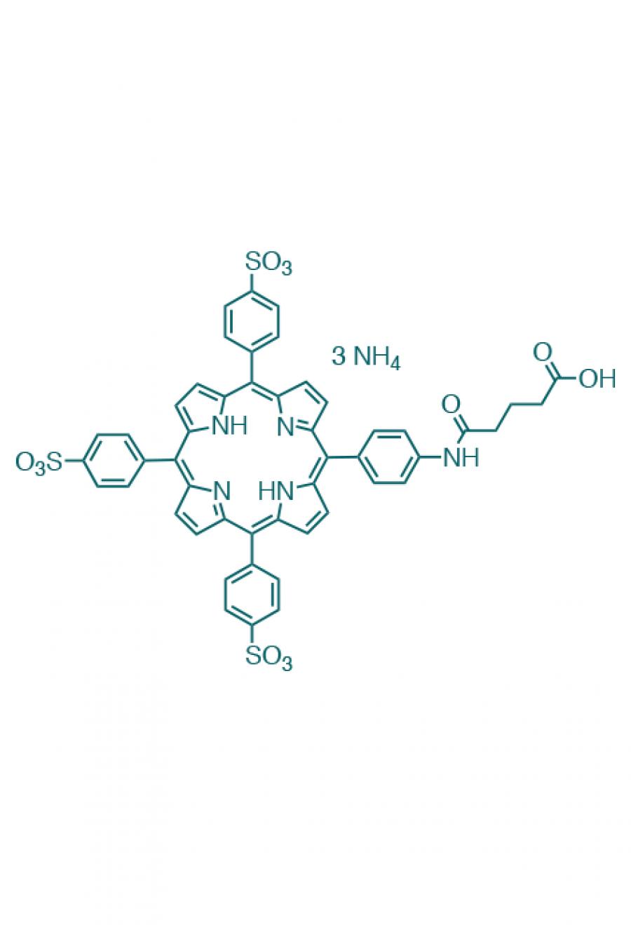 5-(4-carboxypropylcarbamoylphenyl)-10,15,20-(tri-4-sulfonatophenyl)porphyrin triammonium