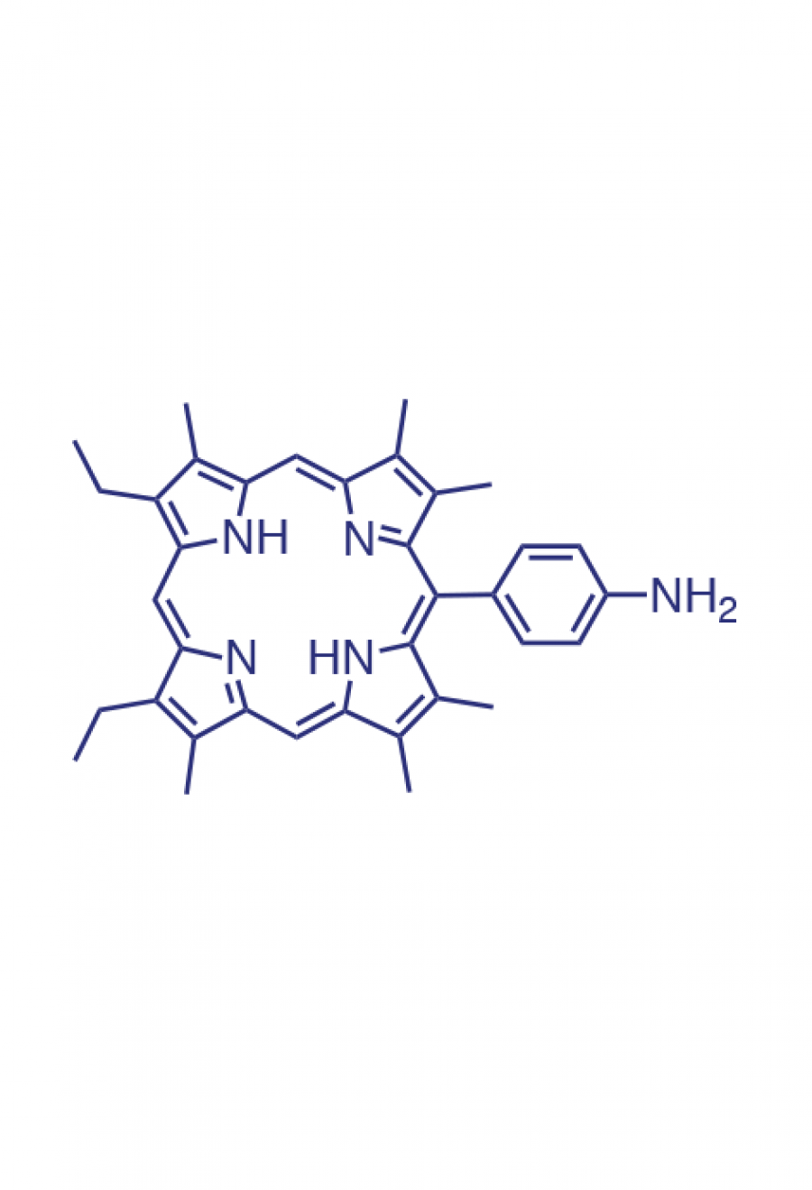 5-(4-aminophenyl)-2,3,7,8,12,18-(hexamethyl)-13,17-(diethyl)porphyrin