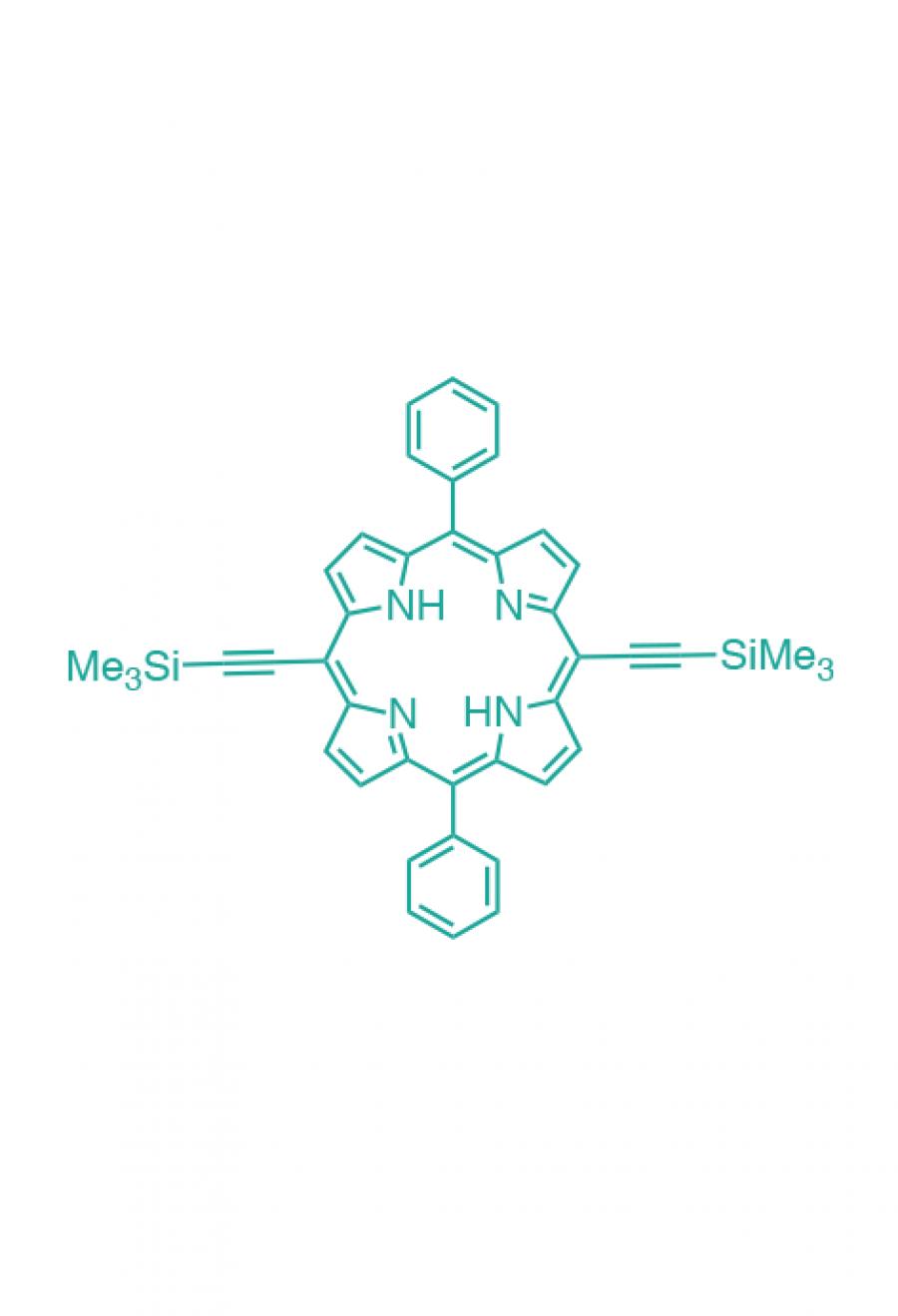 5,15-(di-trimethylsilylethynyl)-10,20-(diphenyl)porphyrin