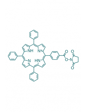 5-(4-carboxyphenyl succinimide ester)-10,15,20-(triphenyl)porphyrin