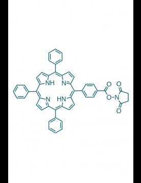 5-(4-carboxyphenyl succinimide ester)-10,15,20-(triphenyl)porphyrin