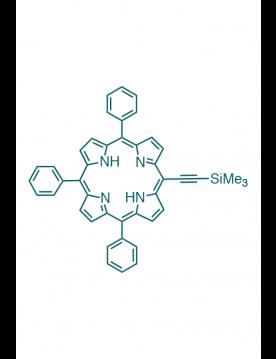 5-(trimethylsilylethynyl)-10,15,20-(triphenyl)porphyrin