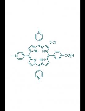5-(4-carboxyphenyl)-10,15,20-(tri-N-methyl-4-pyridyl)porphyrin trichloride