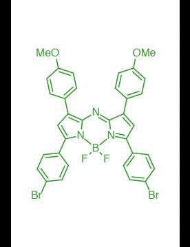 1,7-(di-4-methoxyphenyl)-3,5-(di-4-bromophenyl)AZABODIPY