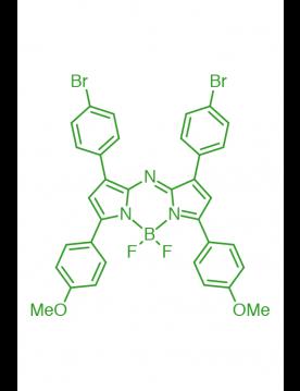 1,7-(di-4-bromophenyl)-3,5-(di-4-methoxyphenyl)AZABODIPY