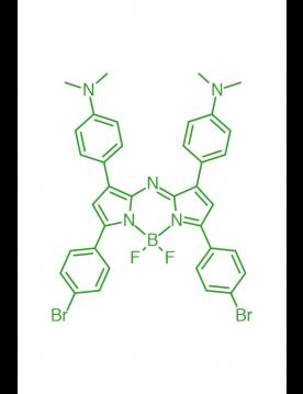 1,7-(di-4-N,N-dimethylaminophenyl)-3,5-(di-4-bromophenyl)AZABODIPY